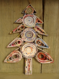 Kerstboom gerecycled papier