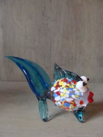 Visje van glas aqua blauw