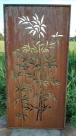 Tuinscherm met bamboe