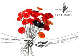 Carneol bloem zwart FC 21