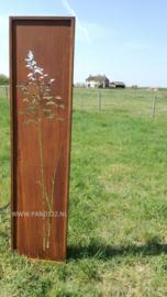 Tuinscherm met enkele graspluim