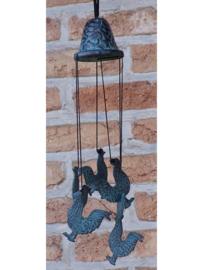 Windgong brons met hanen