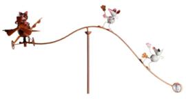 Windspel vliegtuig met kat en muizen