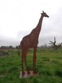 Giraf op voetplaat vierkant
