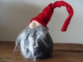 Kerstman met grijze baard