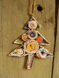 Kerstboom gerecycled papier klein