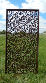Tuinscherm met bladpatroon