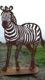 Zebra op voetplaat