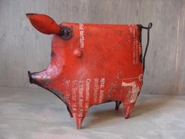 Varken rood klein van gerecycled ijzer