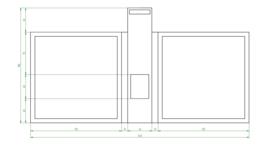 Tuinafscheiding 360x40x190cm. | 3mm.