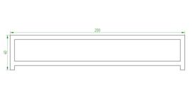 Zitbank Cortenstaal met Hardhout 200x40x46cm. | 2mm.