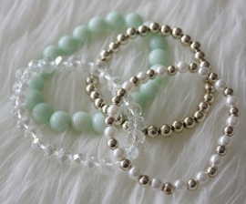 Mint Green Pearl Bracelet