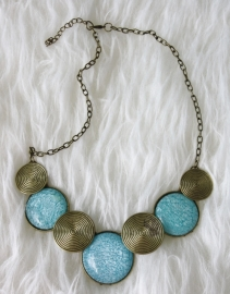 Gold & Blue Necklace