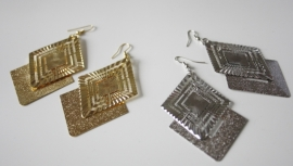Big Silver/Gold Earrings