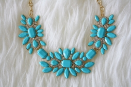 Blue Fashion Necklace
