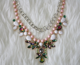Spring Necklace Gold & Silver