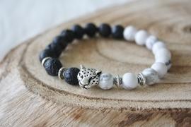 Marble/BlackLeopard Bracelet