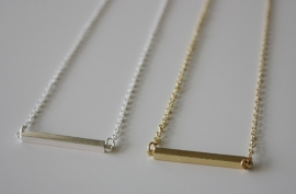 Little Bar Necklace Silver/Gold