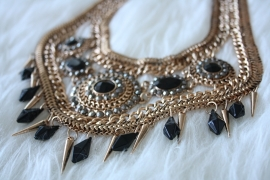 Big Black & Gold Necklace
