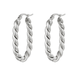 Twisted Oval | Silver