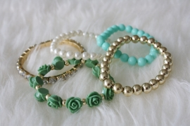 Blue and Green Bracelets Set