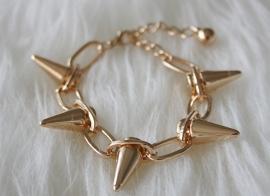 Gold Spikey Bracelet