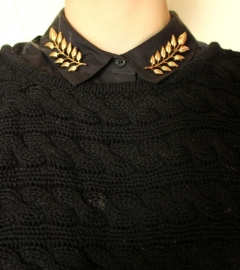Gold Brooch Blouse