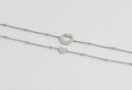 ♥ Share Bracelets | Silver