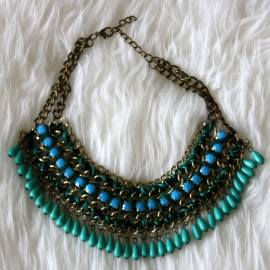 Big Green Statement Necklace