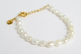 Pearl Bracelet | Gold