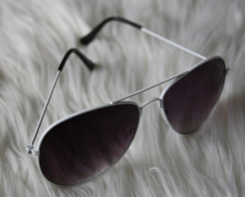 White Pilot Sunglasses