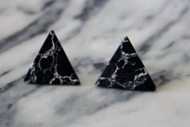 Marble Earrings Black