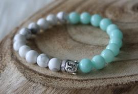 Mint Green Buddha Bracelet
