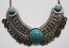 Statement Necklace Blue