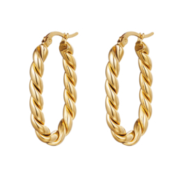 Twisted Oval | Gold