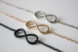 Gold/Silver/Black Infinity Bracelet