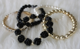 Black and Gold Bracelets Set