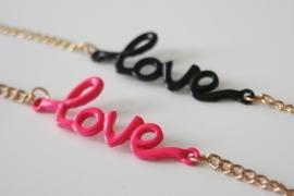 Love Bracelet Pink/Black