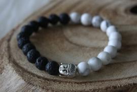 Black/White Buddha Bracelet