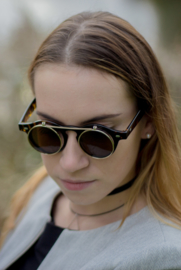 Retro Sunglasses Leopard Brown