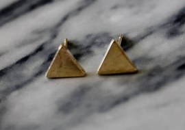Triangle Earrings Gold
