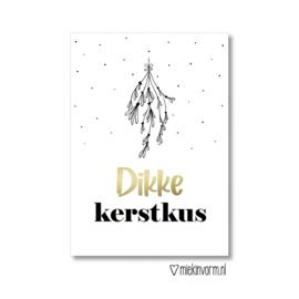 Ansichtkaart | Dikke kerstkus