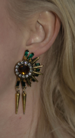 Gold Egypt Earrings