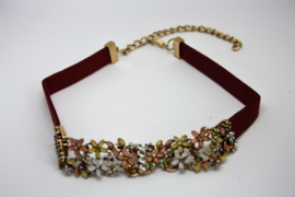 Diamond Choker Red