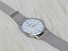 Silver Geneva Watch