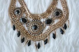 Big Black & Gold Necklace
