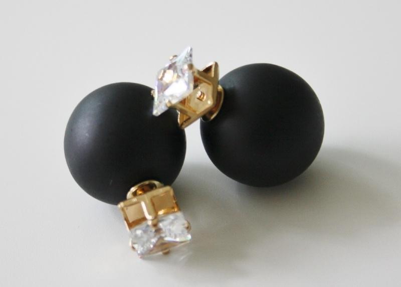 Diamond Black Earrings Matt