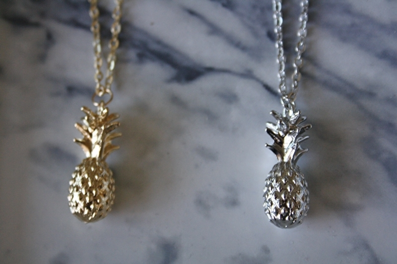 Pineapple Necklace Gold