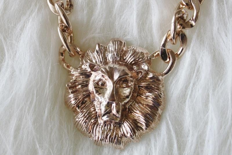 Rose Gold Lion Necklace