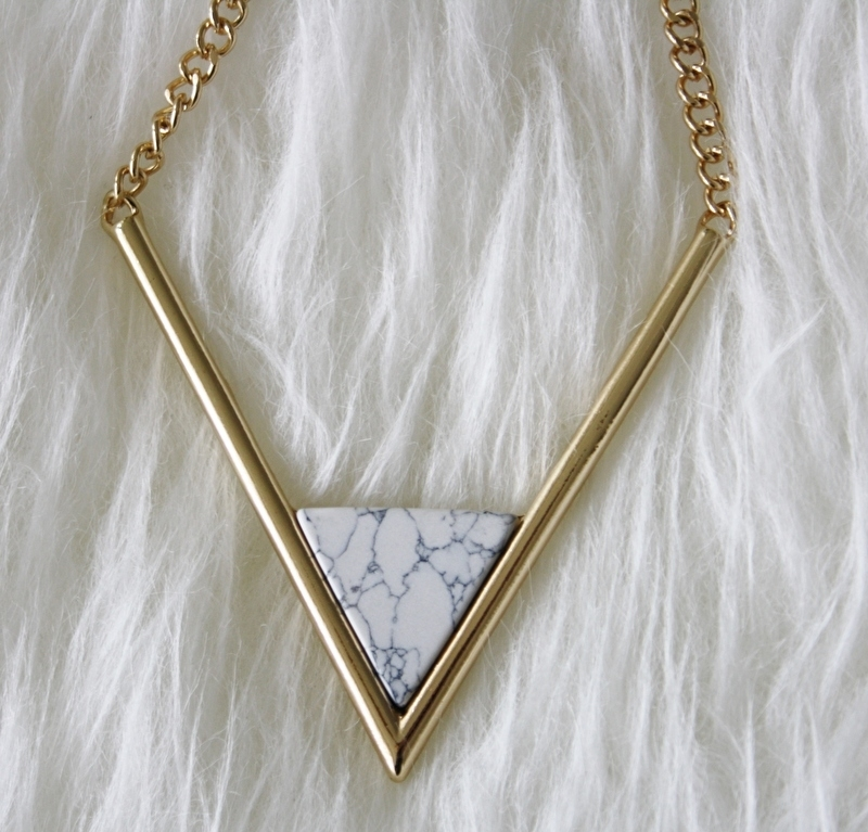 Marble Triangle Necklace